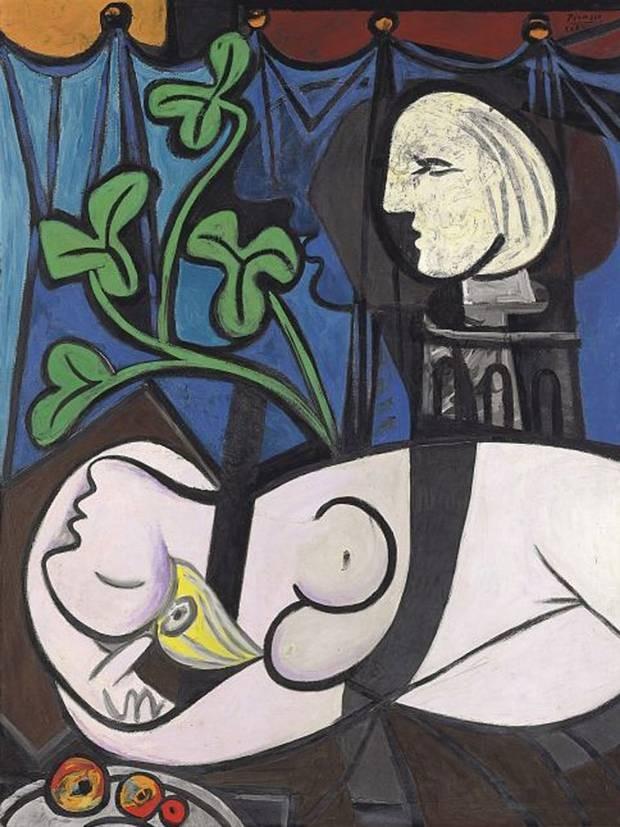 パブロ・ピカソ「裸体:緑葉と胸像」(1932年)