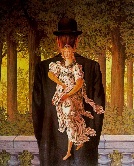 ルネ・マグリット「レディ・メイドの花束」(1956年)
