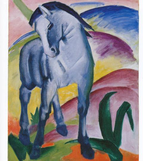 フランツ・マルク「青い馬」(1911年)