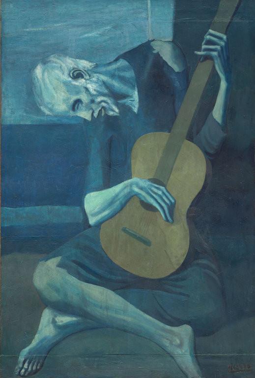 パブロ・ピカソ「老いたギター弾き」(1904年)