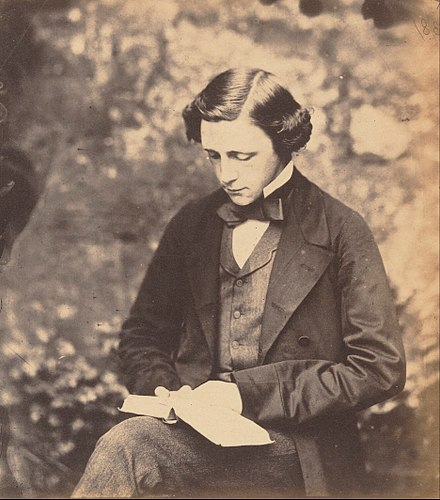 1856年のルイス・キャロルのセルフポートレイト。
