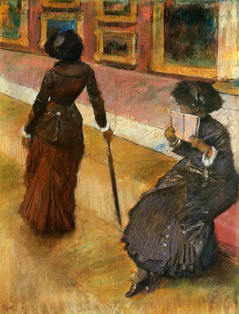 エドガー・ドガが描いたルーブル美術館内のメアリーとリディア。1880年