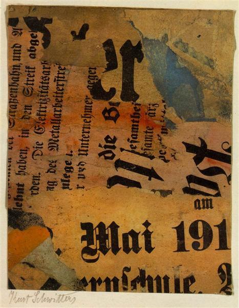 クルト・シュヴィッタース「Mai 191」(1919年)