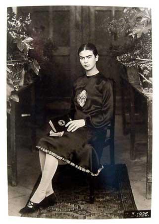 1926年頃のフリーダ・カーロ