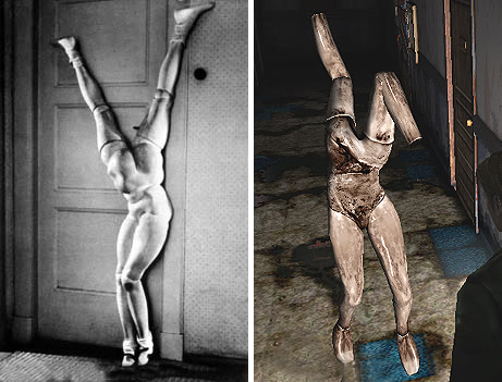 左:ベルメールのセカンドドール 右:サイレントヒル2のマネキン