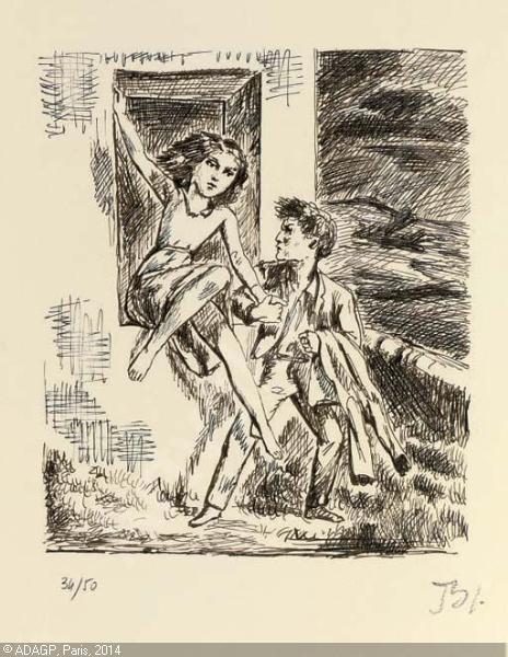 エミリー・ブロンテの『嵐が丘』の挿絵