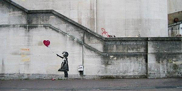 ※1:2002年にウォータールー橋に描かれた『風船少女』(2004年撮影)