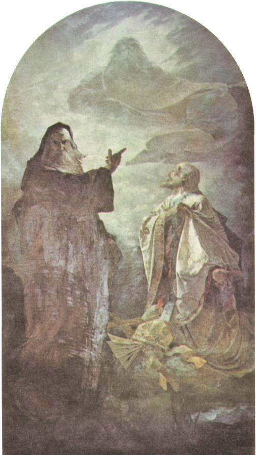 正教会の依頼で制作した《Saints Cyril and Methodiusの肖像》1887年 Wikipediaより。