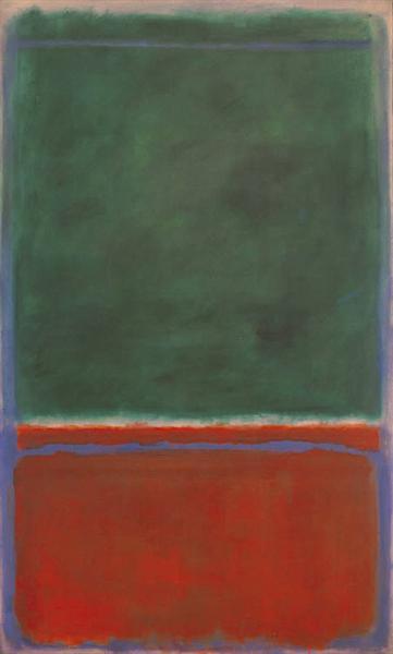マーク・ロスコ「緑と栗色」(1953年)