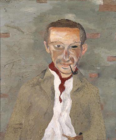 ルシアン・フロイド《セドリック・モリスの肖像》1940年,Art Collections Onlineより