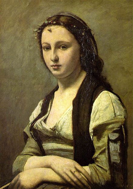 カミーユ・コロー《真珠の女》1868-1870年