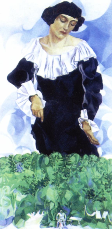 マルク・シャガール「白襟のベラ」(1917年)