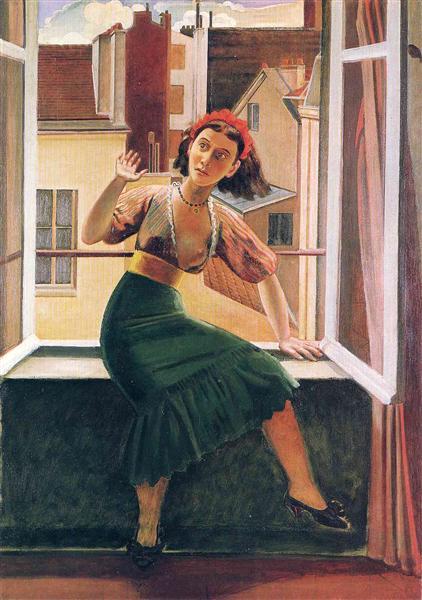 バルテュス「窓(幽霊の恐怖)」(1933年)