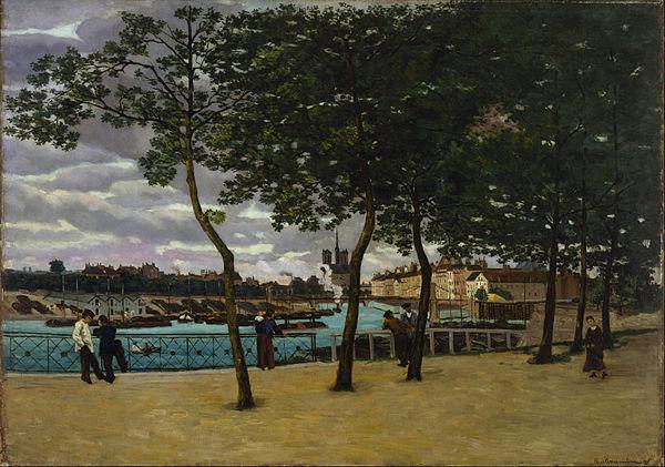 アルマン・ギヨマン《セーヌ川の風景》1871年