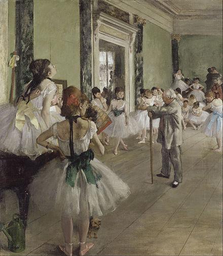 《ダンス教室》1873-1876年