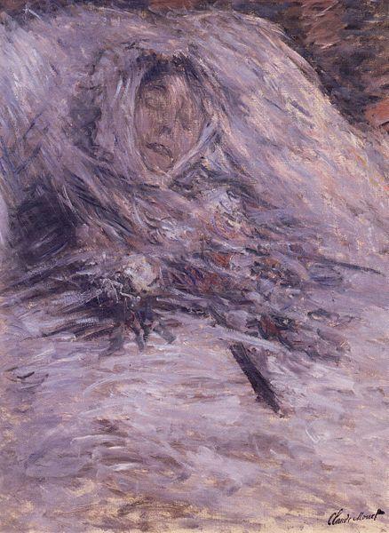 《カミーユ・モネの死の床》1879年