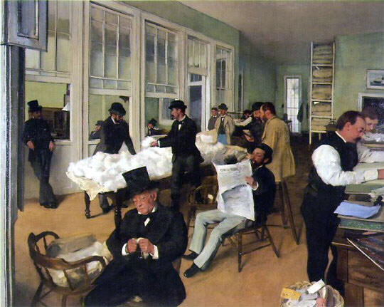 《ニューオーリンズのコットンオフィス》1873年