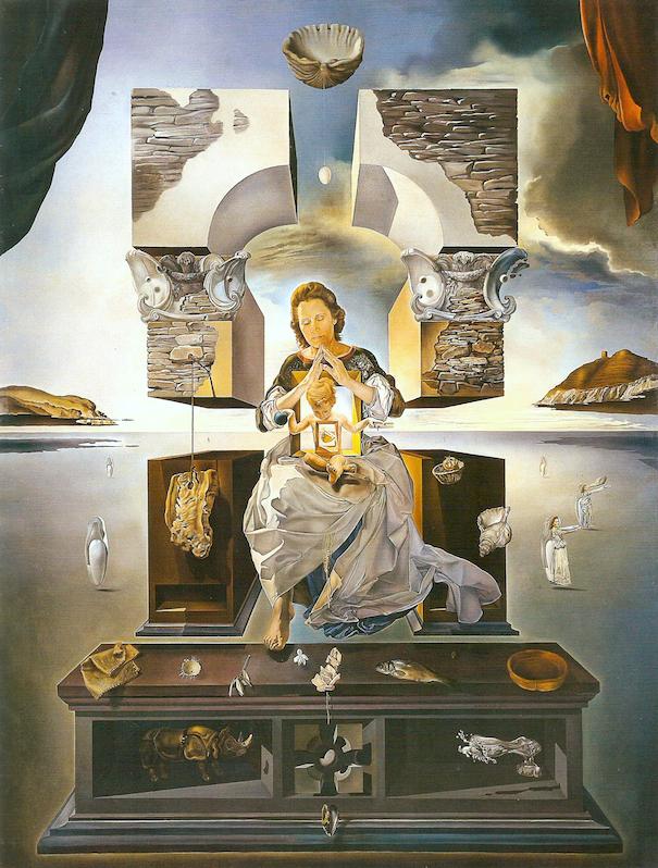 サルバドール・ダリ「ポルト・リガトの聖母」(1950年)