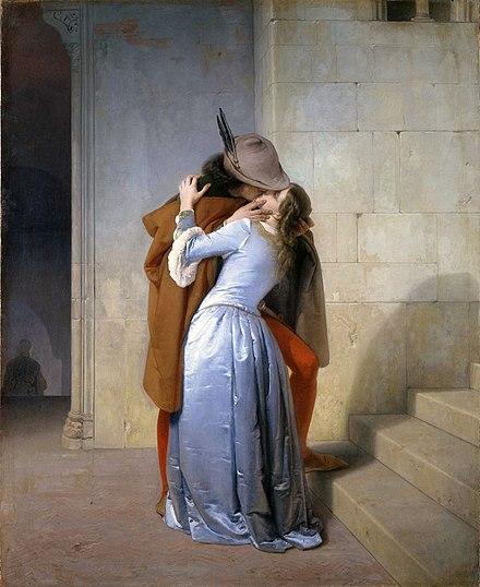 ※4:フランチェスコ・アイエツ《接吻》1859年