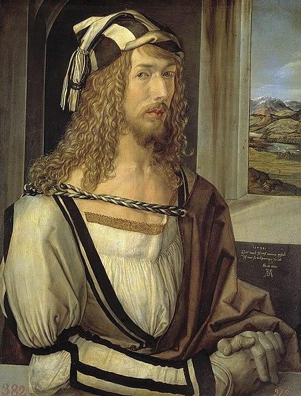 《自画像》,1498年