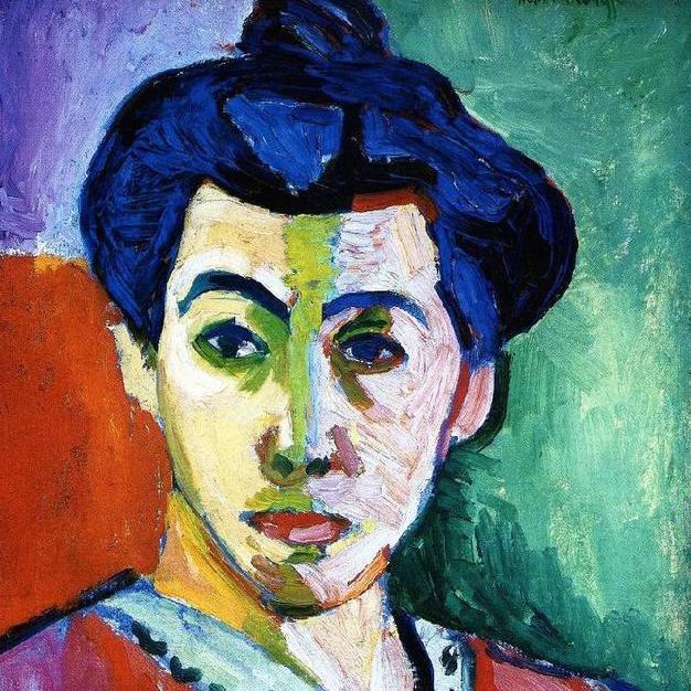 アンリ・マティス「緑のすじのあるマティス夫人の肖像」(1905年)