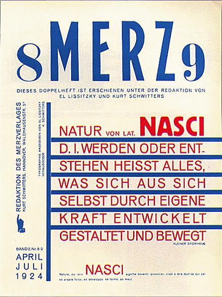 「メルツ」(エル・リシツキーが編集とタイポグラフィを行った1924年の8/9号)