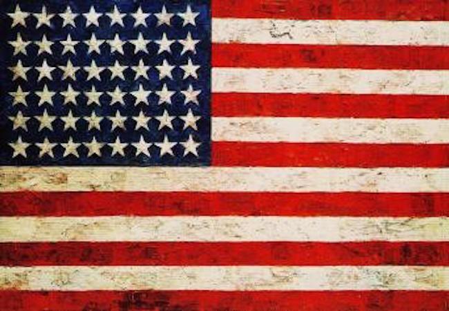 ジャスパー・ジョーンズ「旗」(1954-55年)