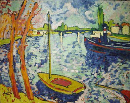 モーリス・ド・ヴラマンク「The River Seine at Chatou,」(1906年)