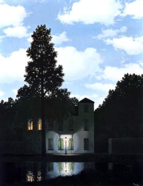 ベルギー王立美術館所蔵 ルネ・マグリット《光の帝国》(1954年)