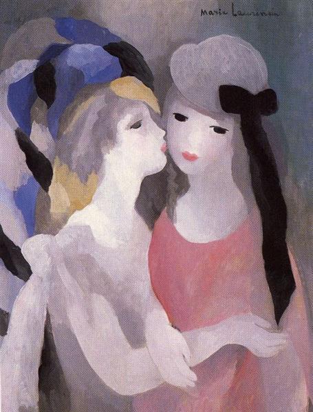 マリー・ローランサン「キス」(1927年)
