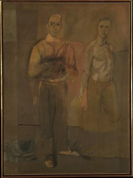 ウィレム・デ・クーニング『二人の立っている男』(1938年)