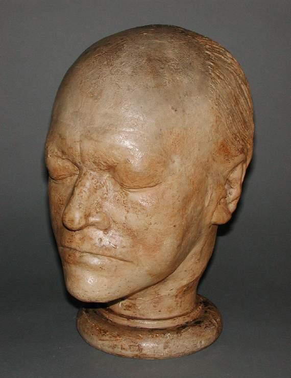 『ウィリアム・ブレイクの頭』ジェームズ・デ・ヴィル作。フィッツウィリアム美術館所蔵。
