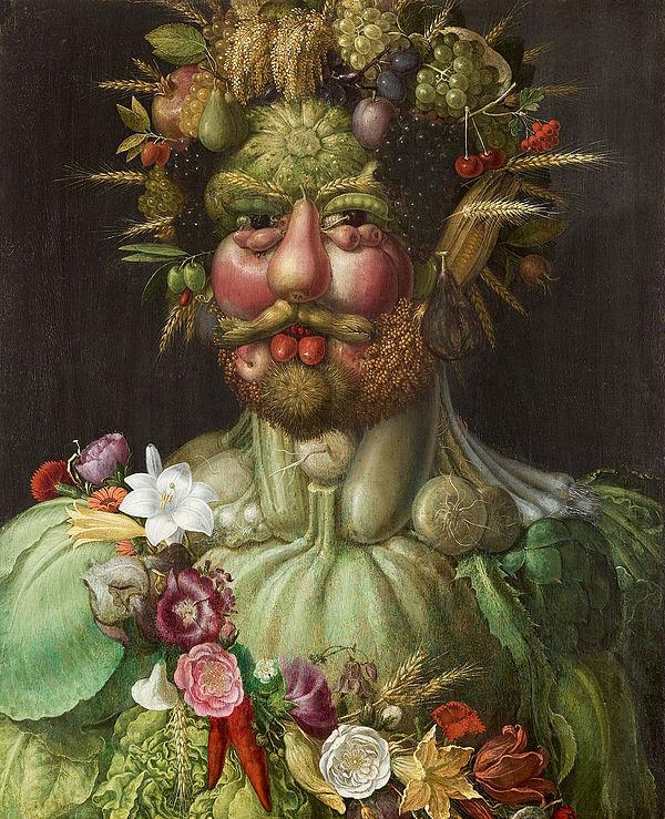 『ウェルトゥムヌスとしての皇帝ルドルフ2世像』1590年頃