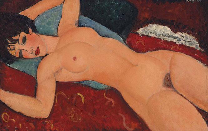 アメデオ・モディリアーニ「赤いヌード」(1917年)