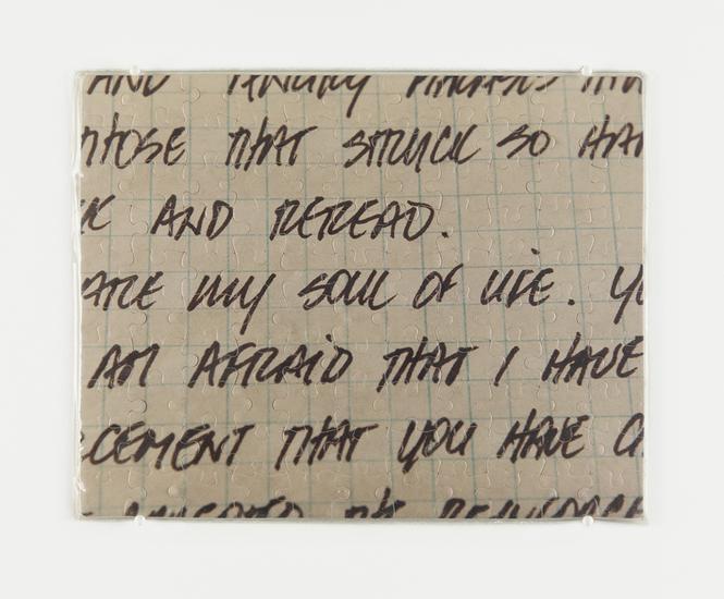 フェリックス・ゴンザレス・トレス「Untitled」 (My Soul of Life), (1991年)