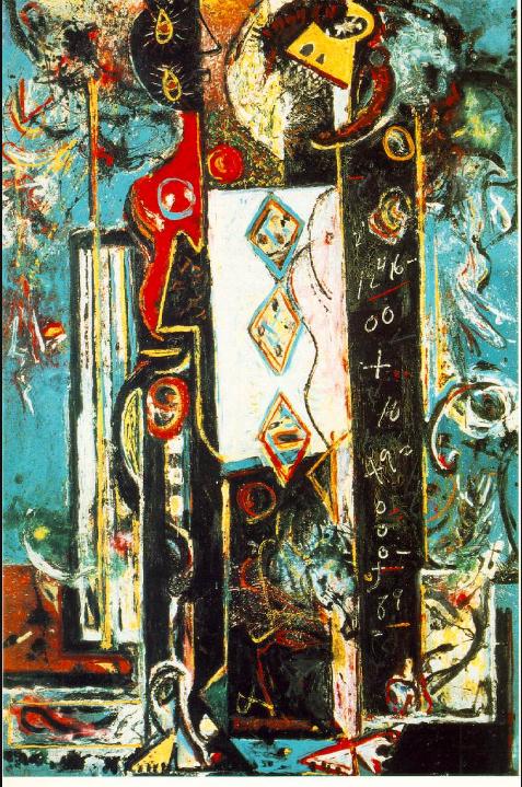 ジャクソン・ポロック《男と女》(1942年)