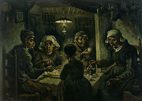 フィンセント・ファン・ゴッホ「ジャガイモを食べる人々」(1885年)