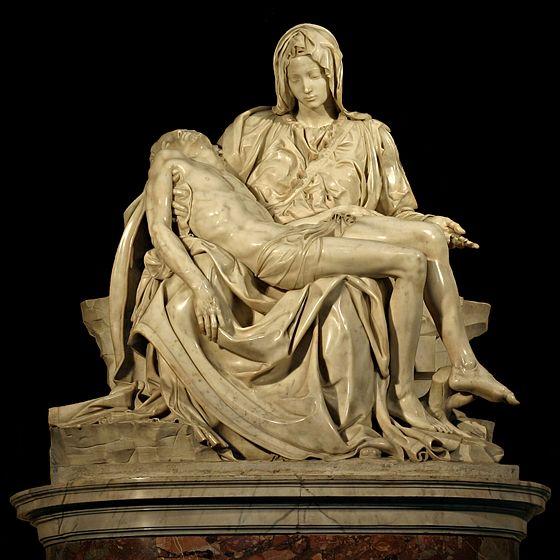 ミケランジェロ『ピエタ』,サン・ピエトロ大聖堂 (1498-99)