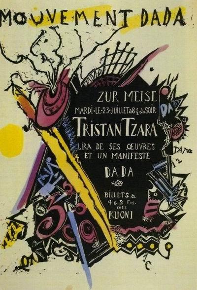 「ダダ宣言1918」が表明された集会のポスター