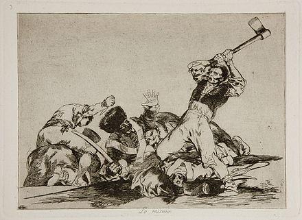 《戦争の惨禍》1810-1820 Plate 3: Lo mismo