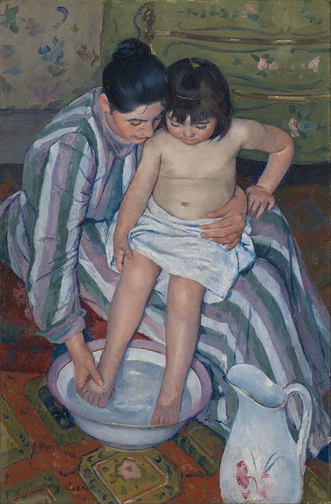 メアリー・カサット《子供の誕生》1893年
