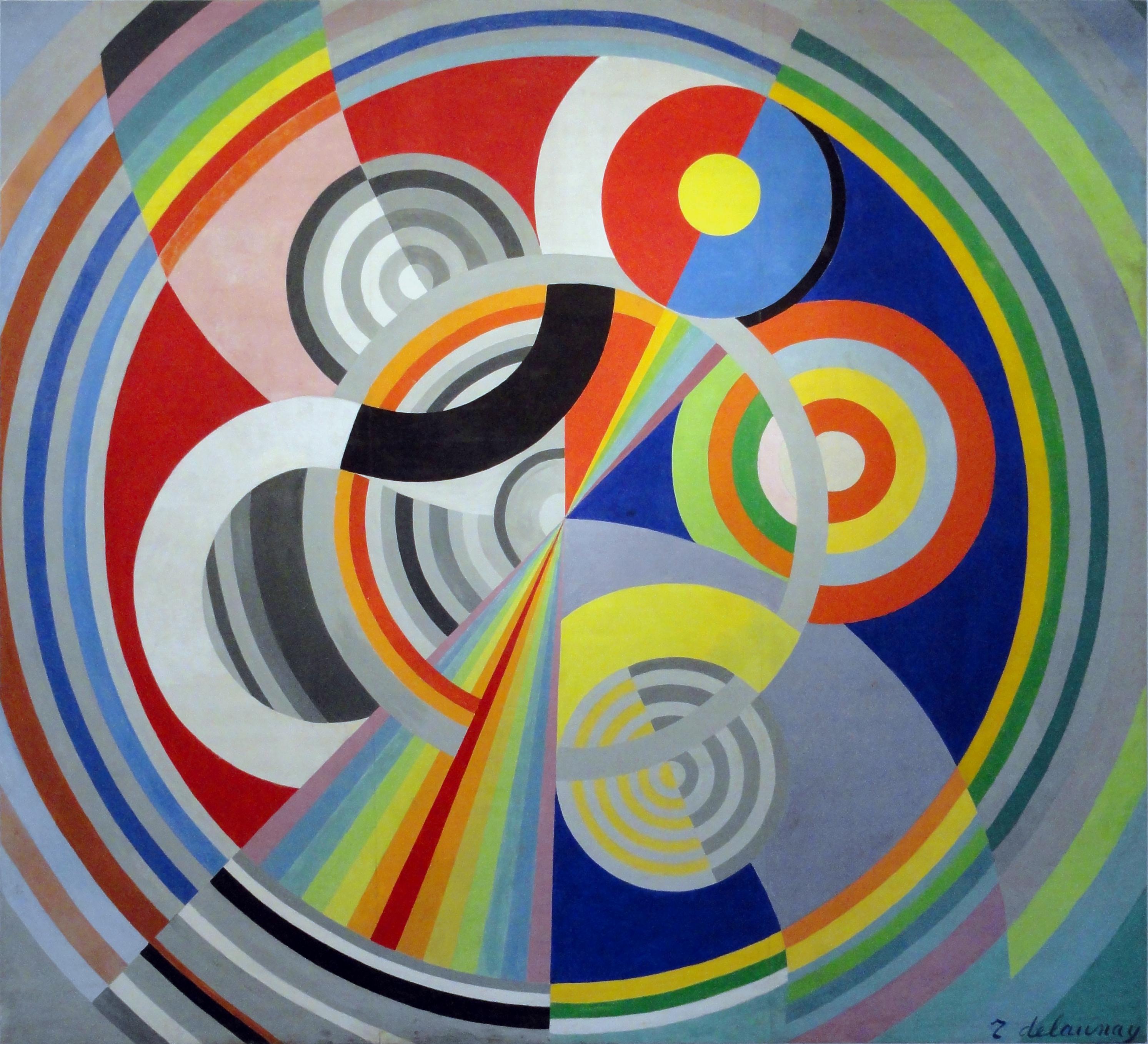 ロベルト・ドローネー「リズム n°1」(1938年)