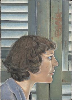 ルシアン・フロイド《キティの肖像》1948-1949年,Wikipediaより