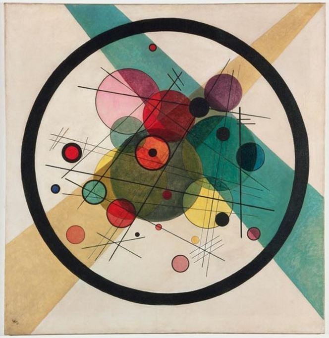 ワシリー・カンディンスキー『円の中に円』(1923年)