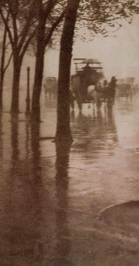 《春の雨、馬車》1902年