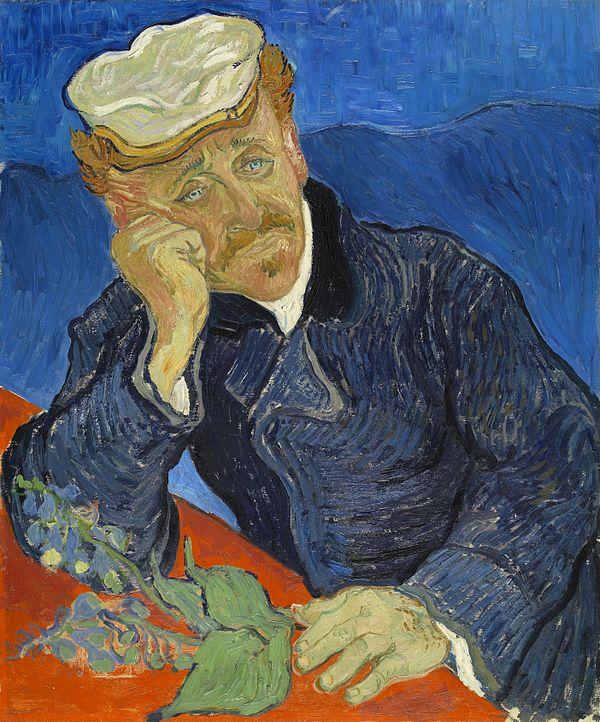《医師ガシェの肖像》第2バージョン