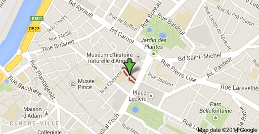 Le bureau se tient à la salle de L'aubrière, rue de l'Aubrière à Angers (portail bleu cour collège St Martin)
