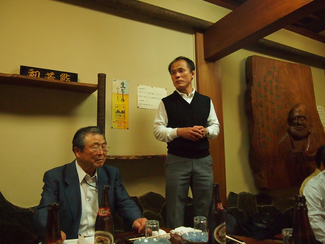 辻村支部会会長の開会挨拶