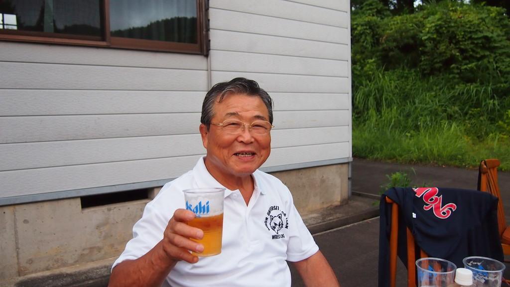「お疲れさん、秋には祝勝会をやろう!」大島会長。