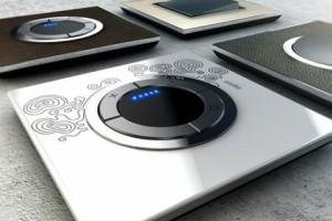 Électricité générale : LEGRAND propose des interrupteurs tactiles sans bruit en verre qui se déclinent de toutes les couleurs.